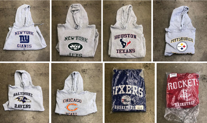 American Specialties Apparel Auction: Kids & Adult Sizes (MLB,NBA,NFL,MLS, NHL, & NCAA)