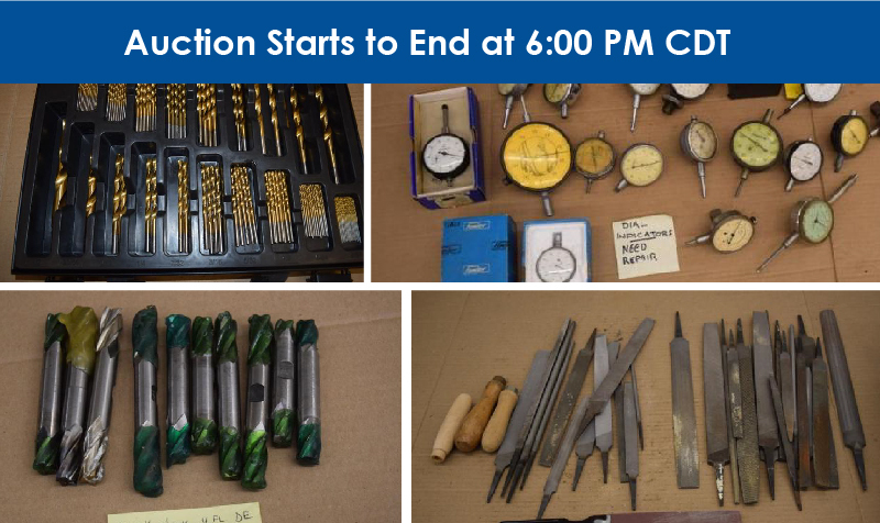8/8 Tried & True Tools Retirement Auction