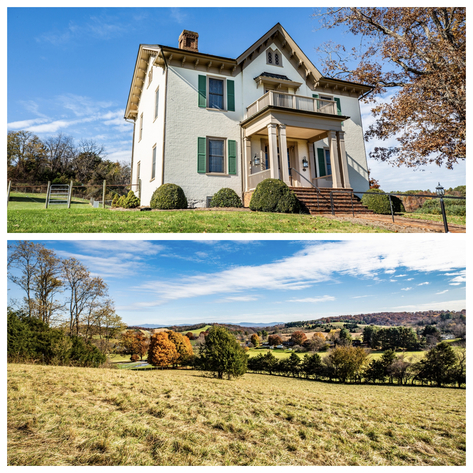 Bear Wallow Farm/David Fultz House:  35 +/- Acres--Immaculately Restored and Historic 4 BR Home, Barn, Pastures & Fencing
