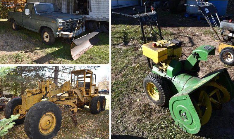 Massey Ferguson 1150 Tractor, Road Grader, Plow Truck, Snow Blowers and More