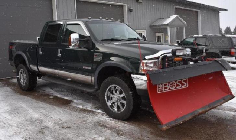 2000 Ford F-350 Dump and Plow Truck & 2003 Ford F-350 Lariat With Boss V-Plow