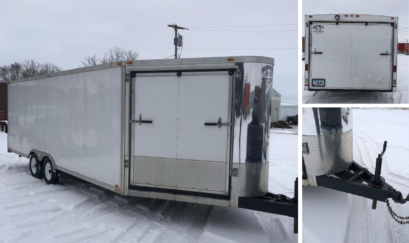 2003 Shadow Master Enclosed Snowmobile Trailer - 1971 Cheverolet Impala Convertible - 1990 International 8300 Semi