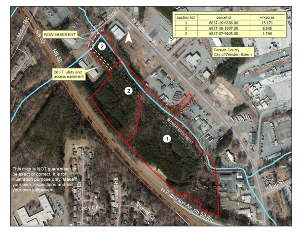 High Traffic Area Commercial Property on Patterson Avenue in Winston-Salem, NC