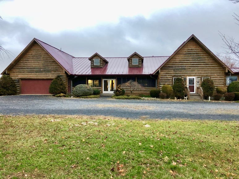 Featured Image for 3 BR/2.5 BA Custom Log Home on 72 +/- Acres w/3 Bay Outbuilding, Pond, Fencing & Kennels--SELLS to the HIGHEST BIDDER!!