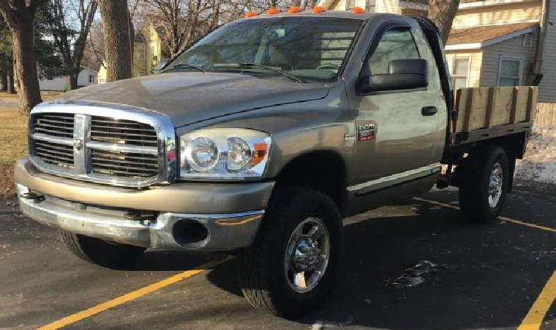 (3) Ford F-350's, (2) Chevrolet 3500's and Dodge Ram 2500