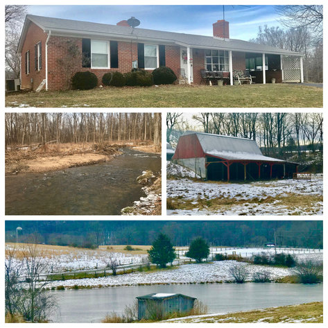 Image for 3 BR Brick Home on 17 +/- Acres w/Barns, Outbuildings, Stocked Pond & Creek Running Through the Property--Loudoun County, VA