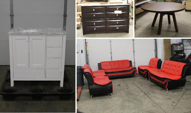Snow Pushers, Vehicles, Furniture, & Store Returns