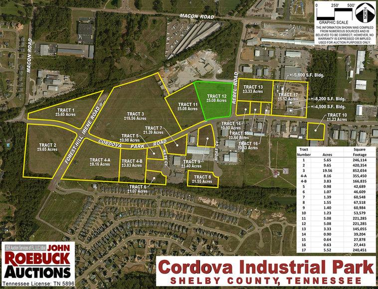±5.08 ACRES CORDOVA INDUSTRIAL PARK Tract #12 Cordova Park Rd., Cordova, TN