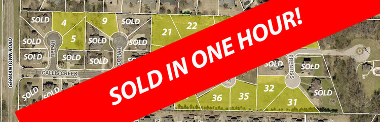 15 ready to build lots! Gated Callis Creek subdivision!