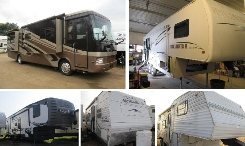 (4) Motorhomes and (11) Campers