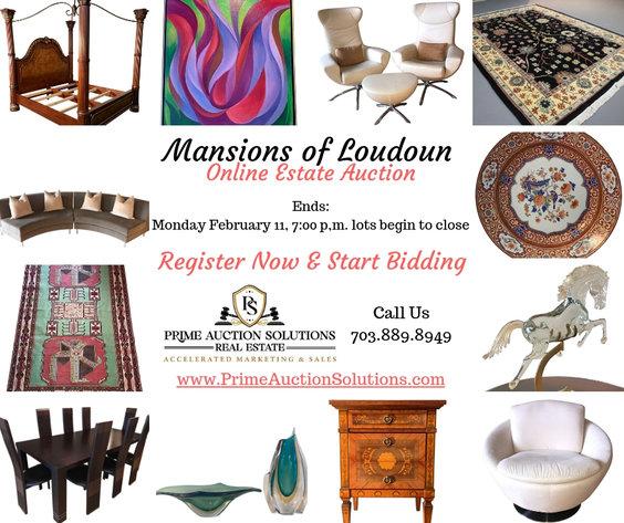 Mansions of Loudoun ONLINE Estate Auction