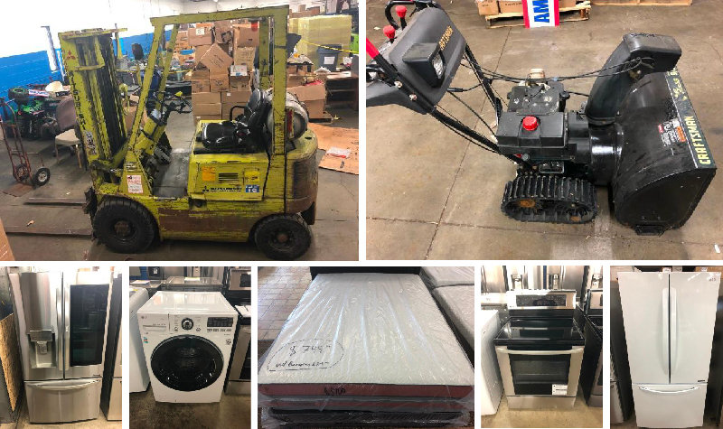 American Specialties Sale! Forklift, Appliances, Mattresses, Electronics and MORE!