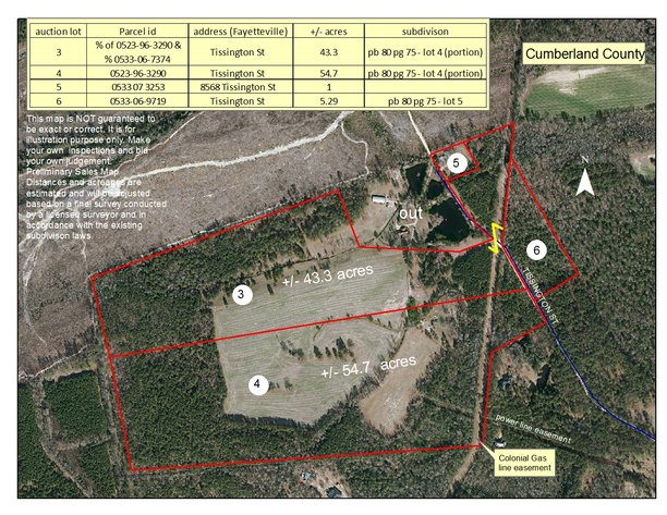Acreage Tracts in Cumberland and Harnett Counties in N.C.