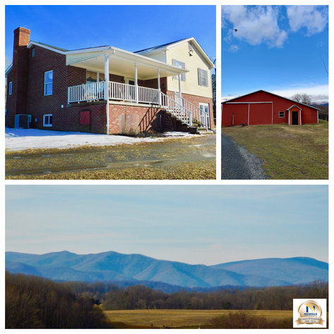 Image for 3 BR/2 BA Home on 11.7 Acres w/12 Stall Barn, 3 Pole Barns & Mountain Views in Madison County, VA--Sells to the Highest Bidder!!