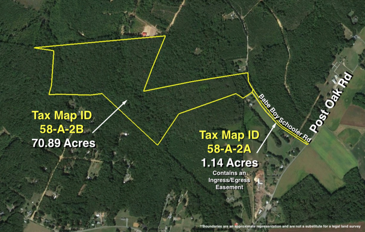 Image for 72 +/- Acre Wooded Parcel Zoned A-3 off of Post Oak Rd.--Spotsylvania County, VA