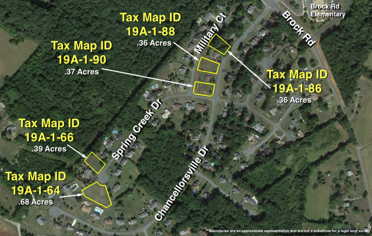 Image for 5 Lots in Spring Creek Subdivision on Public Water & Sewer--Spotsylvania County, VA