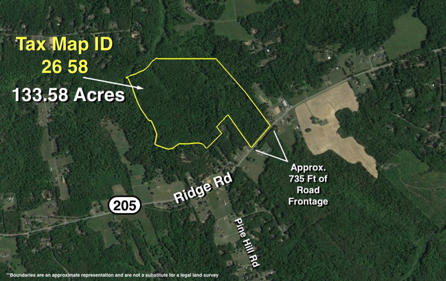 Featured Image for 133 +/- Acres Zoned A-2 w/700'+ of Frontage on Rt. 205--King George County, VA