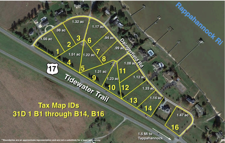 "Image for 15 River View Building Lots in Dangerfield Subdivision on ""The Gold Coast"