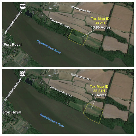 Image for 2 Gorgeous Rappahannock River Front Lots of 13 & 18 Acres-- King George County, VA