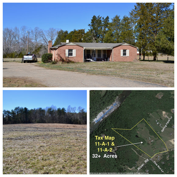 Featured Image for 3 BR/2 BA Home on 32 +/- Acres w/700' +/- of Road Frontage on Desirable River Rd.--Spotsylvania County, VA