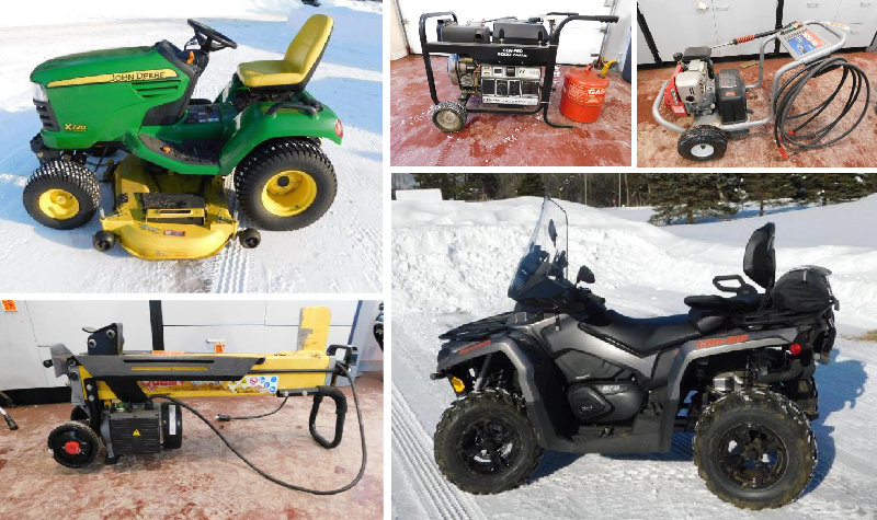 Estate Sale: 2013 Can-Am Outlander 4-Wheeler, John Deere X720 Lawnmower, Shop Tools, Sports Equipment & More