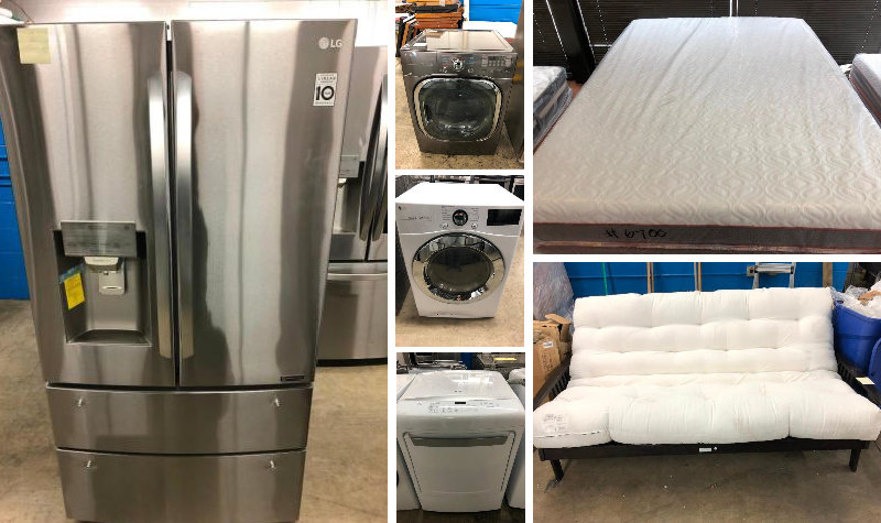 American Specialties Inventory Sale: Appliances, Mattress, Futons, Electronics, and MORE!