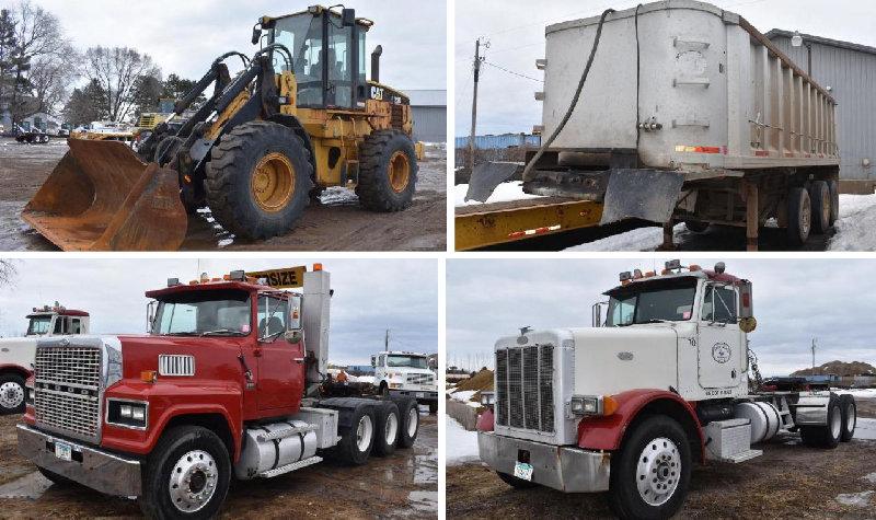 Construction Equipment: Cat IT28G, Aluminum End Dumps, Semis and More