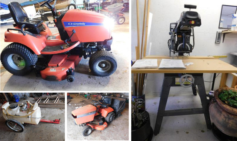 Estate Sale: Lawn Mowers, Woodworking and Shop Tools