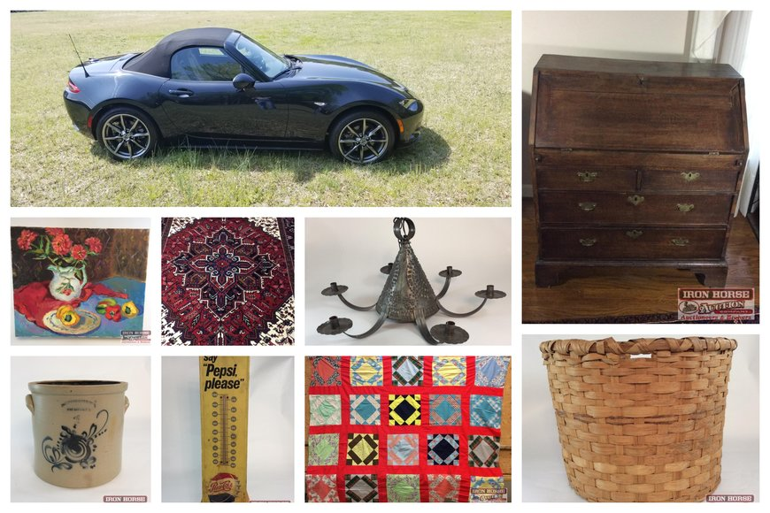 2016  Mazda Miata, Pottery, Collectibles and Antiques for the Susanne McInnis Estate