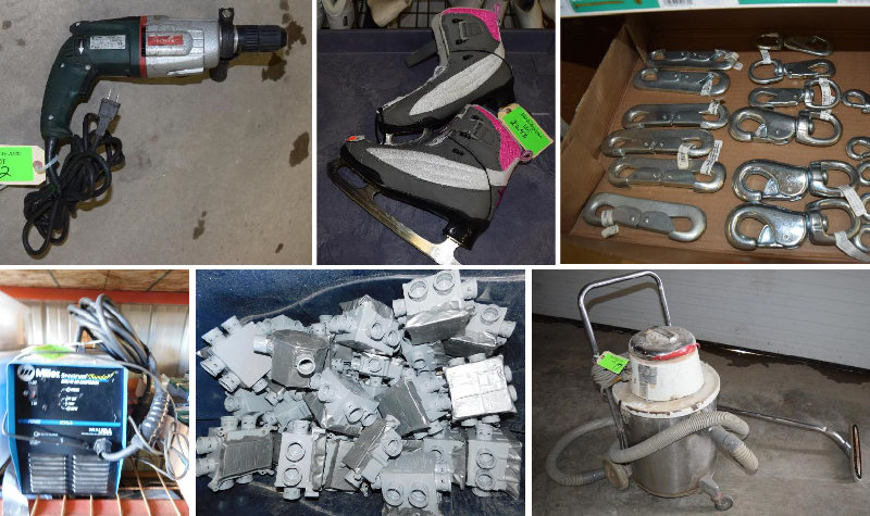 Warehouse Clean Up: Electrical, Shop Supplies, Sporting Goods & Personal Property