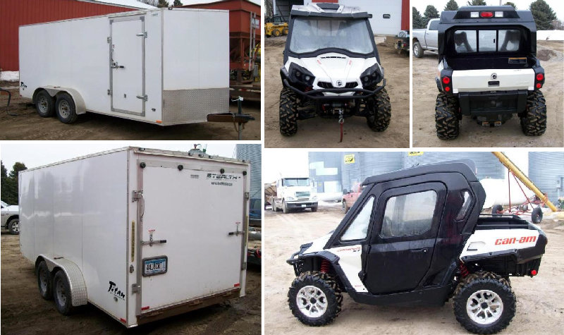 2015 Can-Am Commander 800XT & 2013 Stealth Enclosed Trailer