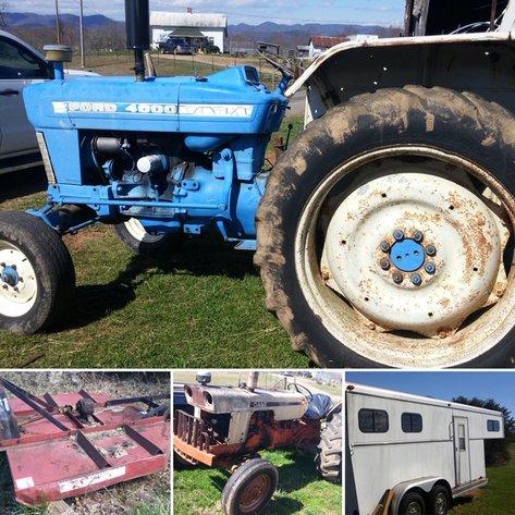 Tractors, Farm Equipment, Tools, & Personal Property