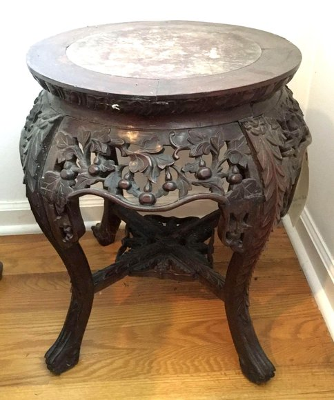 Alderfer Online - Flourtown, PA: 4-18-19 | Sophisticated Estate Featuring Mahogany Side Tables, Bailey Banks & Biddle Figural Clock, Limoges China, Dansk Flatware, Oriental Rugs, Garden Statues & More!
