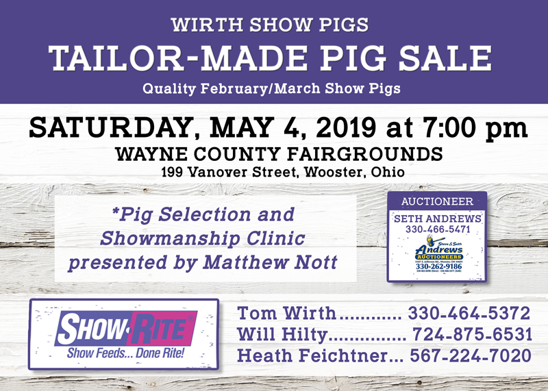 Wirth Show Pigs Tailor- Made Pig Sale