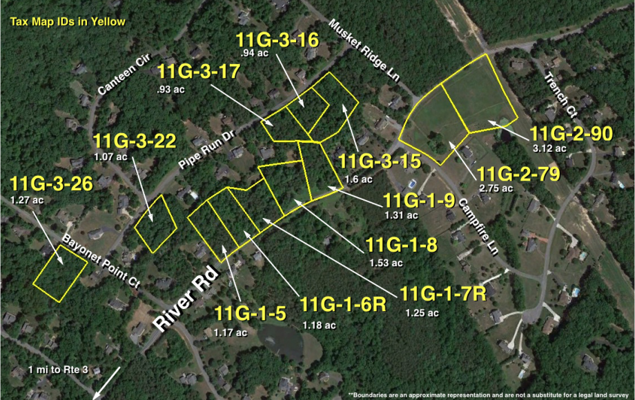 12 LOTS in CHANCELLOR OAKS SUBDIVISION—RIVER RD in SPOTSYLVANIA COUNTY, VA