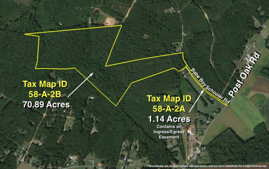 72 +- ACRE WOODED TRACT off of POST OAK RD., SPOTSYLVANIA COUNTY—ZONED A-3
