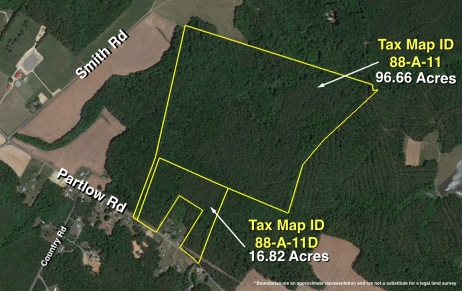 113 +/- ACRES of TIMBER LAND ZONED A-3 on PARTLOW RD.—SPOTSYLVANIA COUNTY, VA