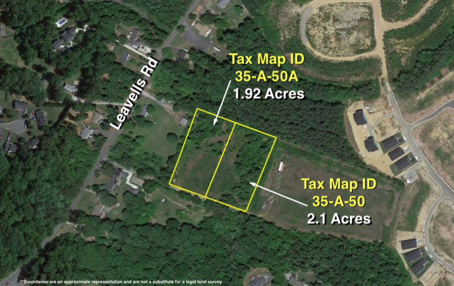 2 LOTS TOTALING 4 +/- ACRES off of LEAVELLS RD.—SPOTSYLVANIA COUNTY, VA