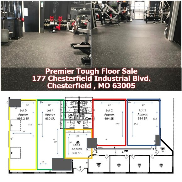 Premier Tuff Gym Floor Auction