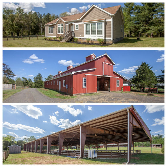 3 BR/2.5 BA Home w/Riding Arena, Garage/Workshop, 12 Stall Barn, 9 Fenced Paddocks on 25.5+/- Ac