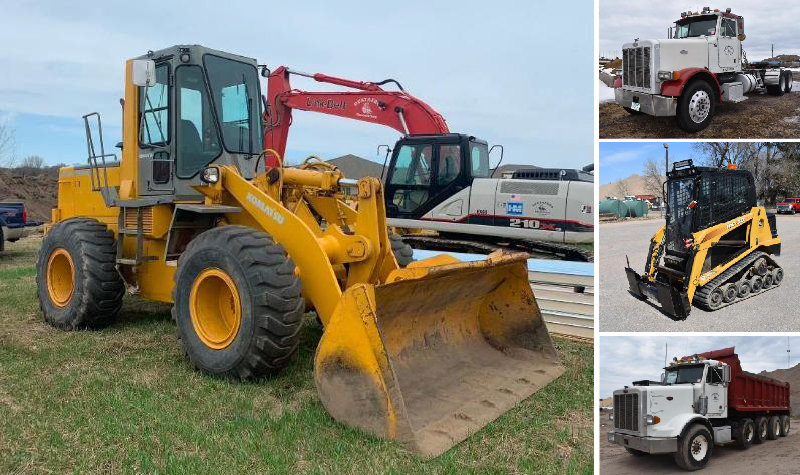 Construction Equipment: Bobcat 331 Mini Excavator, ASV RC-30 Skid Steer, 1988 Peterbilt Quad Axle & More