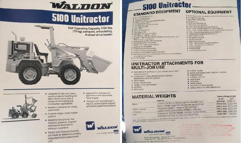 Waldon 5100 Unitractor