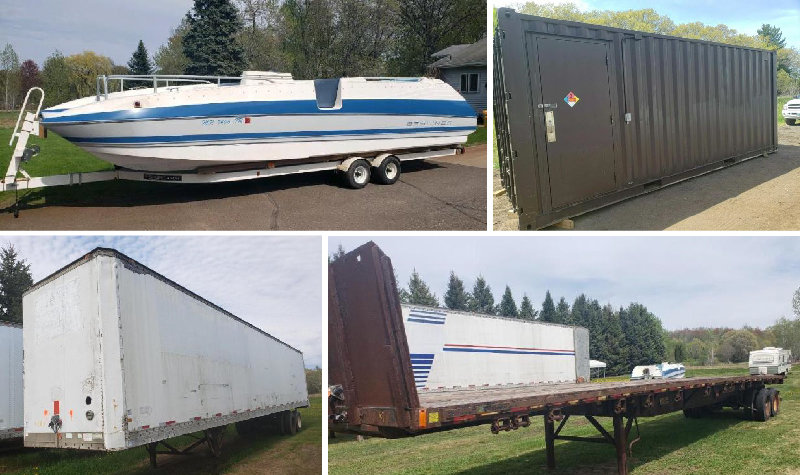 Semi Trailers, Recreational, Light Poles & More