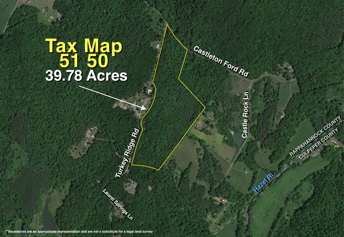 39.7 +/- Wooded Acres w/2,700' +/- of Frontage on Turkey Ridge Rd. in Rappahannock County, VA