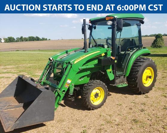 Farm Estate: John Deere 3720, Trailers, Lawn Mowers, Farm Toys, Parts & More