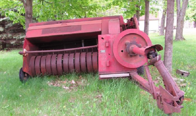 New Holland 68 Baler and Flatbed on Case Running Gear