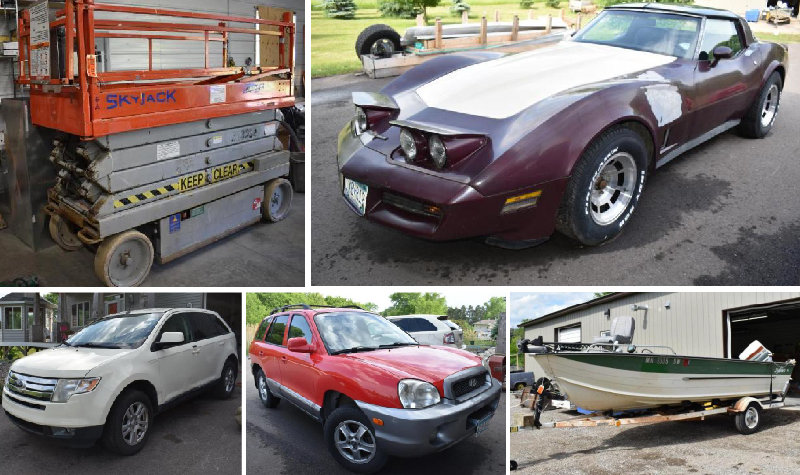 Electrical Contractor Equipment, Cars and Collector Cars