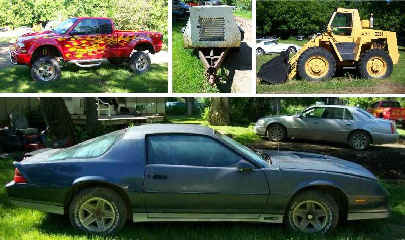 Collector Cars, Wheel Loader, Industrial Air Compressor & More