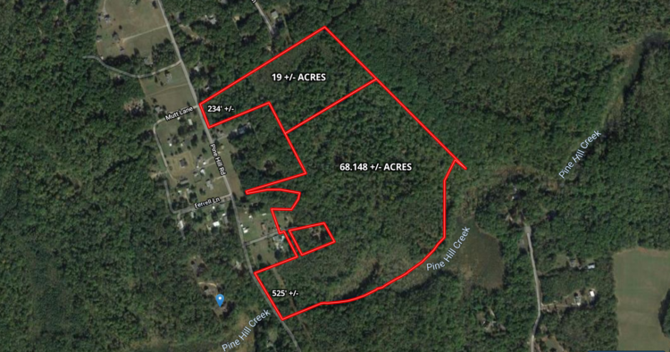 68+/- Acres of Wooded Land in King George County, VA--SELLS to the HIGHEST BIDDER!!