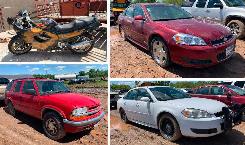 Kanabec County Police Seized Vehicles